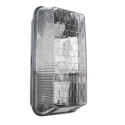 Powermaster S6354 Rectangular Bulkhead Light, 100 W, Black - cheap UK light shop.