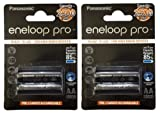 #3: Panasonic Eneloop Pro 2500mAh 4xAA Rechargeable Ni-MH Battery BK-3HCDE/2BE