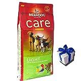 MERA Dog 12,5 kg CARE LIGHT Hundefutter für übergewichtige Hunde + Geschenk