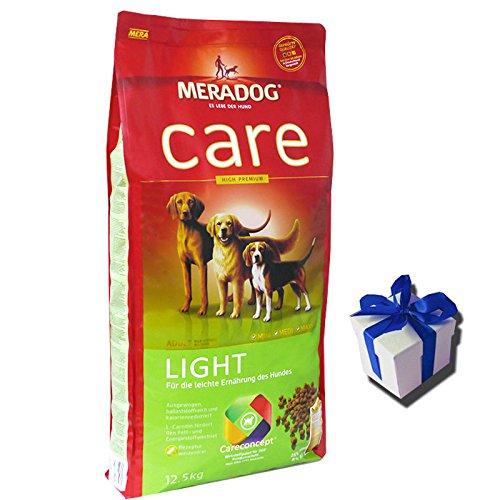 übergewichtige Für Hundefutter Hunde (MERA Dog 12,5 kg CARE LIGHT Hundefutter für übergewichtige Hunde + Geschenk)