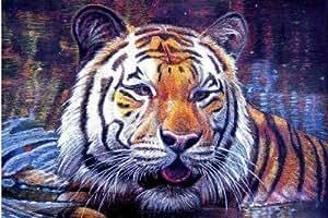 Tiger Wildlife Jumbo aimant de réfrigérateur