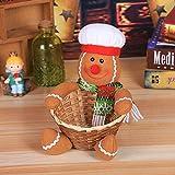 Gaddrt Süßigkeiten Korb Stempel Weihnachten Candy Ablagekorb Dekoration Weihnachtsmann Ablagekorb Geschenk 19x18CM (D)