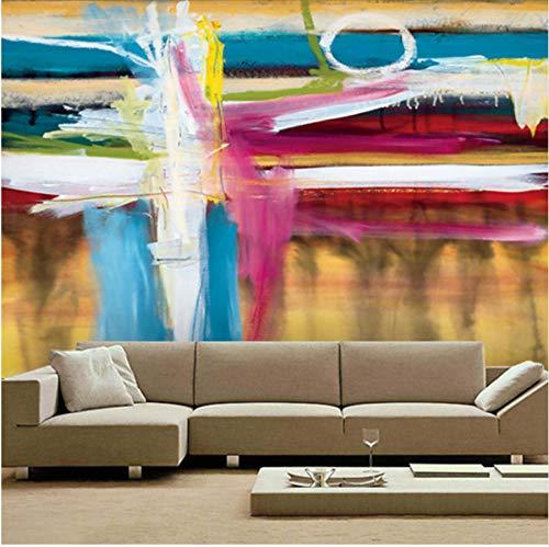 Factory Outlet Großes Wandbild Amerikanischen Abstrakten Modernen Büro Regenbogen 3D Tapete Für Schlafzimmer Wohnzimmer Tv Hintergrund Möbeldekoration (W)140x(H)100cm