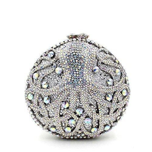 WYB Diamant-Abendbeutel / hochwertigen voller Diamanten Abendtasche Hand / Bankett color b