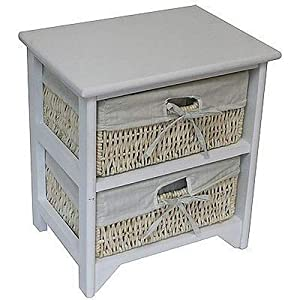 Home Discount Maize Storage Unit White, 2 Drawer