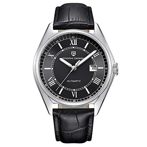 Orologio da uomo automatico lusso Business orologio meccanico con cinturino...