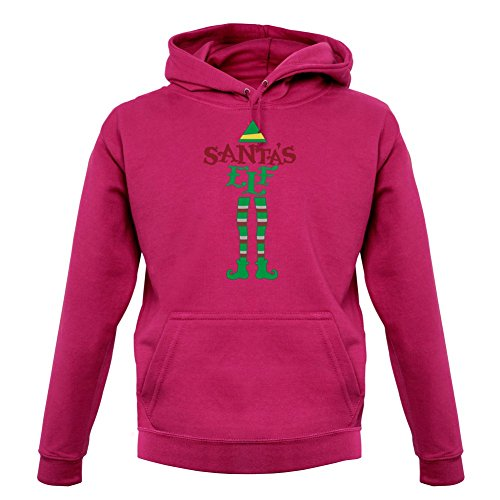 Kostüm Herren Buddy Elf - Dressdown Weihnachtself - Unisex Hoodie/Kapuzenpullover - Pink - XS
