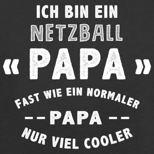 Ich bin ein Netzball Papa - Herren T-Shirt - 13 Farben Schwarz