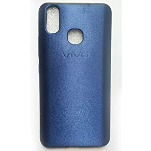 Tech Attires Vivo X21 Blue Silken Touch Fabric Washable Ultra Protection Rubberised Soft Back Phone Cover for Vivo X21