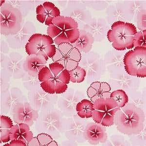 Tissu Kokka japonais avec des fleurs de cerisier roses