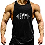 YeeHoo Herren Cut Off Gym Tank Top Muscleshirt Fitness & Bodybuilding Unterhemd Trägershirt Weste