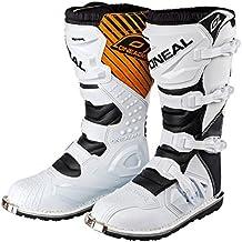 Botas para Motocross de ONeal; Modelo Rider MX, Color Blanco 2015: