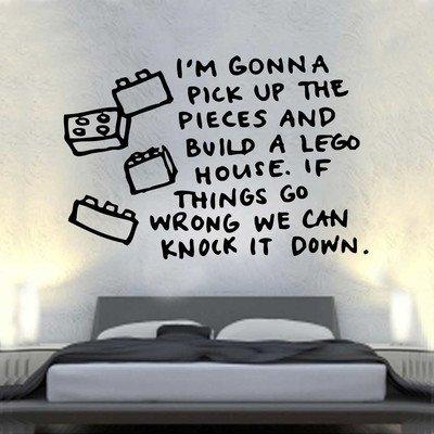Kult Kanvas ml8 Sticker mural Paroles de la chanson Lego