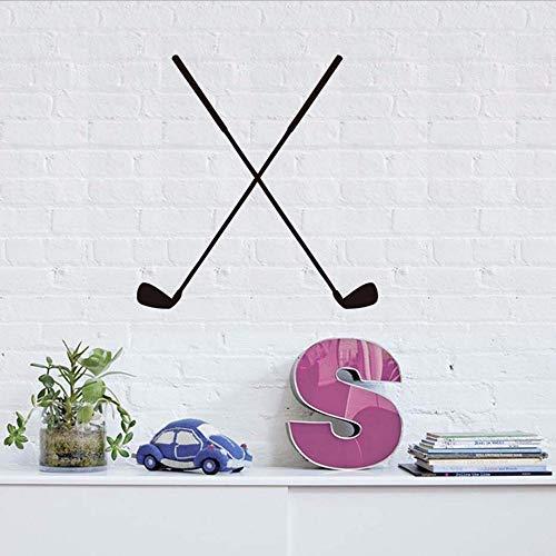 Gwgdjk Hockey Aufkleber Silhouette Große Größe Selbstklebende Vinyl Hockey Sport Spiel Putter Muster Wandaufkleber Wohnzimmer Wohnkultur 58X61 Cm