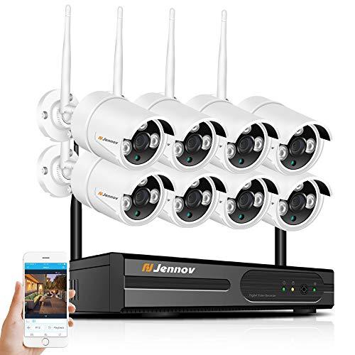 8CH NVR Überwachungskamera System WiFi 2MP 1080P Audio Outdoor Sound Wireless IP Kamera CCTV Video Surveillance Kit,8PcsCams+1080P+2MP Wireless Home Surveillance Kit
