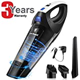Zerhunt Cordless Handheld Vacuums, 6KPa Wet Dry Vacuum Cleaner, [2019 Upgraded] Rechargeable Lithium Battery Hand Held Vac for Home Car