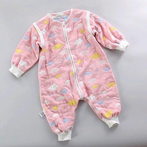 Jingdian fzw Baumwoll-6-Lagen-Gaze Baby Schlafsack Kinder Klettern Baby kein Knochen Anti-Kick war Split Ärmel Herbst und Winter...