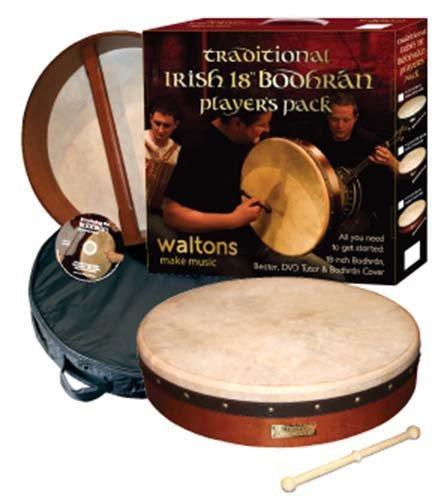 WALTONS IRISH 45 7CM BODHRAN PLAYER PACK