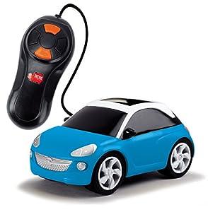 Dickie  de Juguete 203753000-Opel Adam, Convertible, Color Rojo/Azul/Amarillo
