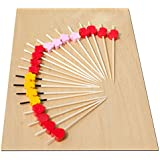 Gifts Of The Orient - Pick & Mix Coctel Palillos Color & Brochetas De Madera 9 Cm X 100