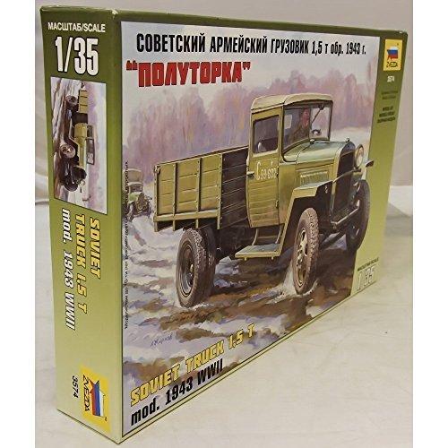 Zvezda 1/35 GAZ-MM model 1943 Soviet Truck # 357 by Zvezda