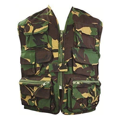 Highlander Ranger Weste für Kinder, Camouflage-Design Camouflage 9 to 10 Years (Kinder Camouflage Weste)