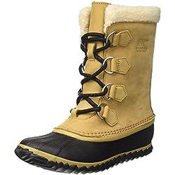 Sorel Caribou Slim, Botas de Nieve para Mujer, Marrón (Curry/Black), 36 EU