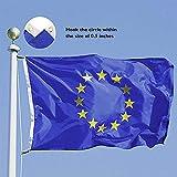 Gaddrt Bandiera Dell'Unione Europea 5 x 3ft Bandiera In Poliestere Ideale Bandiera ue Per Esterno-Poliestere - per Parate Feste da Tavolo Decorazioni Bandiere - non Sbiadiscono - Lavabili
