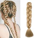 """Cheveux Synthetique pour Tresse [1 Pièce] On Dirait de Vrai Cheveux (24""""=60cm, 100g) [Ash Blond]"""
