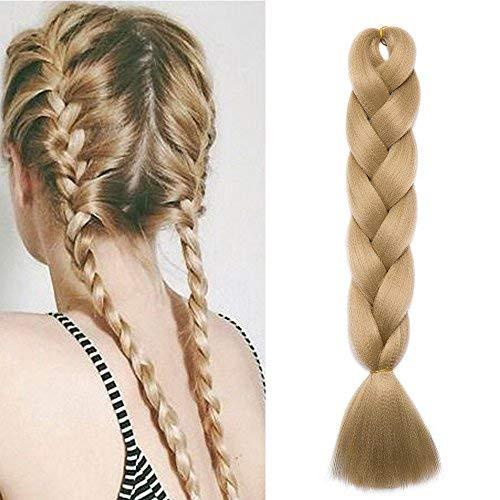 Extension treccine lunghe capelli finti per trecce fibre braids extension kanekalon hair 60cm 100g - biondo cenere