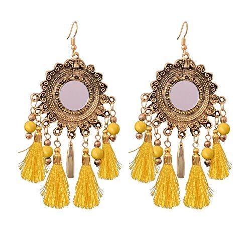 Sitashi Trendy Western Wear Afgani Style Tassel Dangler Earrings For Girls and...