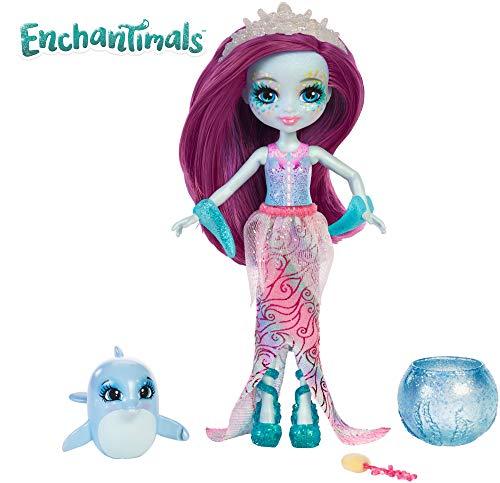 Enchantimals Muñeca con mascota acuática Dolce Dolphin (Mattel FKV55)