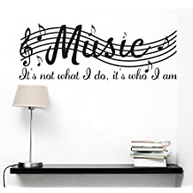 """Vinilo decorativo para pared con el texto en inglés """"It's not what I do, it's who I am"""", 96,5 x 38,1 cm, color negro"""