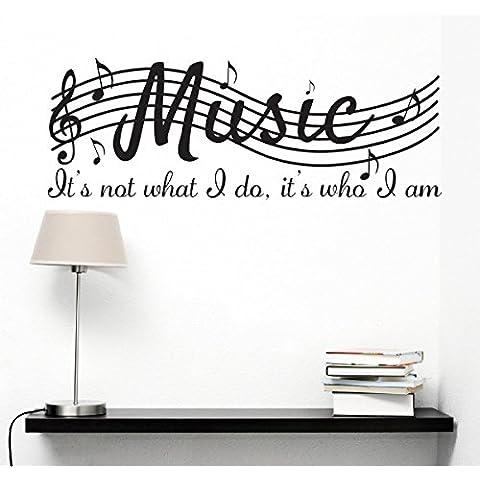 No es lo que hago es lo que soy música casa vinilo Pared dodoskinz citas refranes palabras artes decorativos, pegatinas de pared vinilo letras, 38