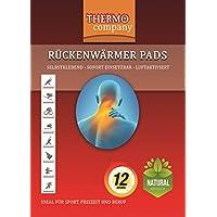 Preisvergleich für THERMO company | Rückenwärmer Wärmekissen Körperwärmer | Maße: 12,8cm x 9,8cm | 12 Stunden wohltuende Wärme |...
