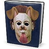 Buchcover 9 x 11 Zoll Halloween Michael Myres Maske Hund Snapchat Filter - dehnbar waschbar wiederverwendbar