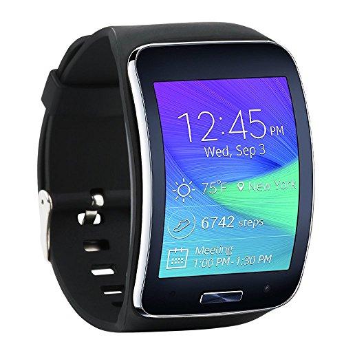 Fit-Power Ersatzarmband für Samsung Galaxy Gear S R750Smart Watch, verstellbare Größe, kabellos, Smartwatch, Zubehör, Band, Gurt, mit sicherem Verschluss, Pack of 4D - Watch Galaxy S Samsung Smart