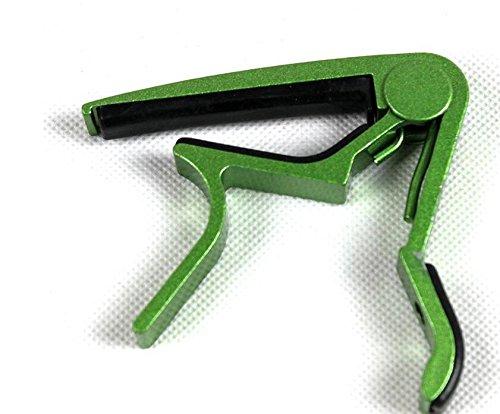 zcsmg profesional guitarra cejilla abrazadera para disparador de liberación rápida Clip (verde)
