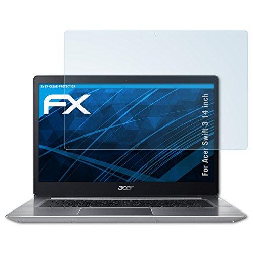 atFolix Schutzfolie kompatibel mit Acer Swift 3 14 inch Folie, ultraklare FX Displayschutzfolie (2X)