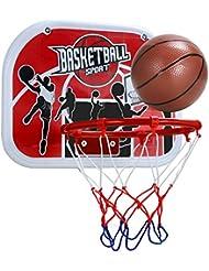 Pellor Canasta Aro de Baloncesto Tablero de Pared Colgando Juego Interior y Exterior para Niños