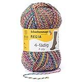 Regia 4-fädig Color 9801281-04068 flowerfield Handstrickgarn, Sockengarn, 50g Knäuel