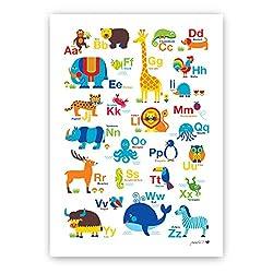 byGraziela Tier ABC Poster | Alphabet Poster | Lernposter | 50 x 70cm