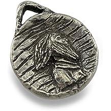 Peltro St. Columban, Patrono dei motociclisti, portachiavi/ciondolo - Peltro Portachiavi Ciondolo