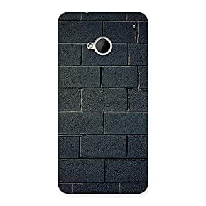Impressive Black Brick Wall Back Case Cover for HTC One M7