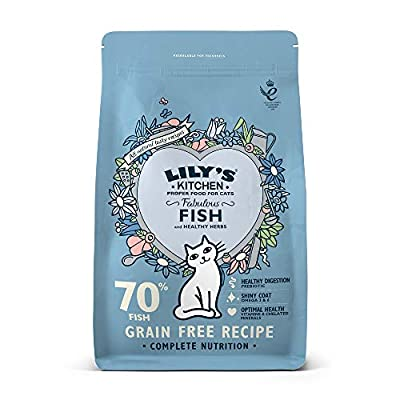 Lily's Kitchen Fabulous Fish Complete Natural Dry Food for Cats, 2 kg
