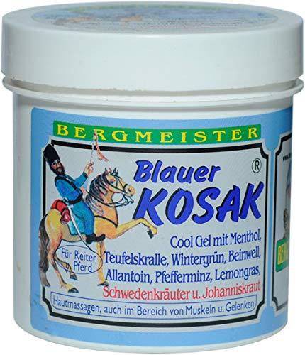 Blauer Kosak Gelenks- Sport & Muskelbalsam 250 ml für Hobby und Aktivsportler sowie für alle die für Ihren Nacken, der Schulter, die Wirbelsäule, die Knie und allen Gelenken etwas gutes tun wollen!!!