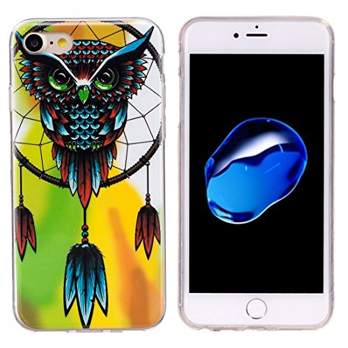 iPhone Case Cover Pour iPhone 7 Noctilucent Plum Pattern IMD Workmanship Soft TPU Back Cover Case ( SKU : Ip7g1672b ) Ip7g1672g