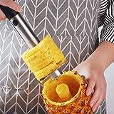 FOCCTS Ananasschneider, Cromargan Edelstahl, spülmaschinengeeignet, schneidet Ringe und löst das Fruchtfleisch komplett aus der Frucht