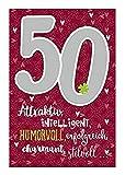 Depesche 5698.065 - Glückwunschkarte mit Musik, 50. Geburtstag