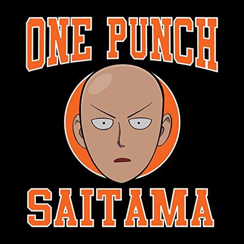One Punch Man Saitama Sports Logo Women's Hooded Sweatshirt Black